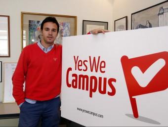 Yago Zarroca, creador del portal Yes We Campus que ofereix un feina on line pensada per a estudiants.  Foto:ORIOL DURAN