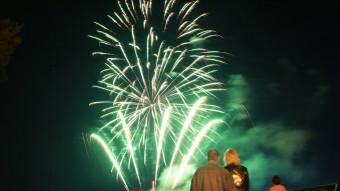 Els focs d'artifici van tancar les festes, diumenge a la nit Foto:JOAN SABATER