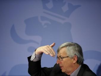 Jean-Claude Junker, primer ministres de Luxemburg, a la cimera de la UE de dimecres.