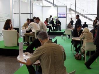 Sessions entre emprenedors al Biz Barcelona.  Foto:JUANMA RAMOS