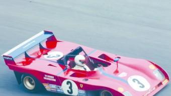 També al circuit de Vallelunga, el 312 P de Tim Schenken i Carlos Reutemann, que van ser segons, el millor resultat de Ferrari en aquella cursa. Foto:MARIO CHAVALERA