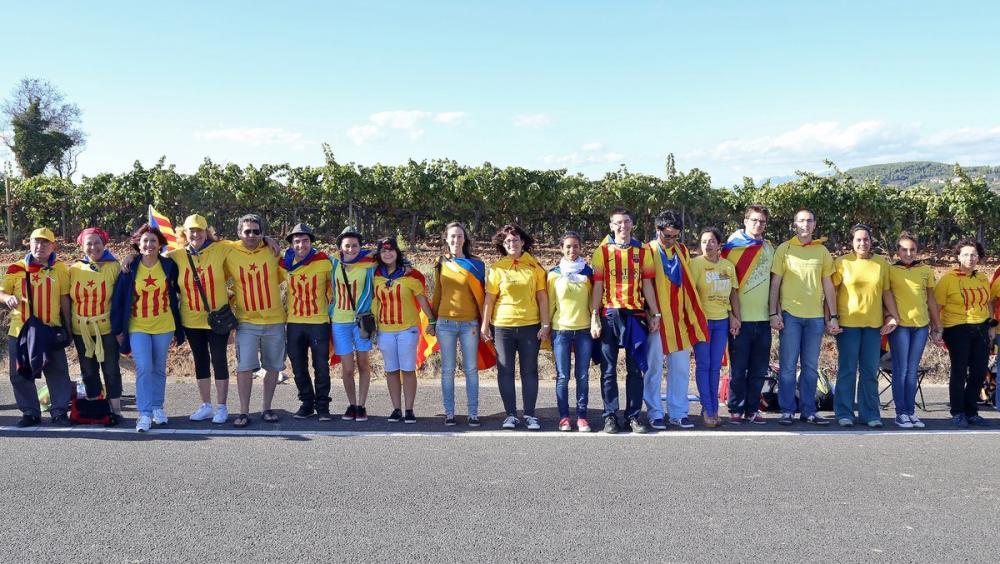 La Via Catalana a Avinyonet del Penedès Foto:JUANMA RAMOS