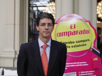 El director general de Caprabo, presentant El Comparador.  Foto:ORIOL DURAN