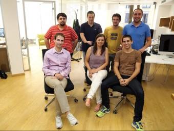 L'equip complet de Luxus Travel a les seves oficines a Barcelona.  Foto:JUANMA RAMOS