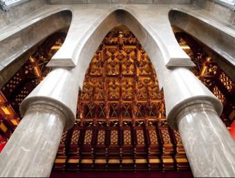 Interior d'una de les sales del Palau Güell, a tocar de les Rambles de Barcelona.  Foto:ARXIU