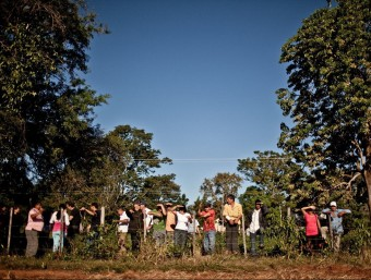 Comunitat de camperols que cultiven soja per a biocombustibles, al Paraguai.  Foto:PABLO TOSCO/INTERMON OXFAM