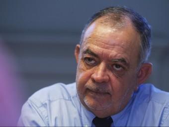 Manel Xifra, president d'Amec, en un moment de l'entrevista celebrada a la seu de l'associació.  Foto:ORIOL DURAN