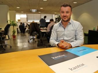 Philippe Gelis a les oficines de Kantox a Barcelona Activa.  Foto:JUANMA RAMOS