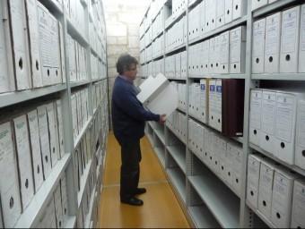 Sala compacte on es guarda documentació.  Foto:ARXUI