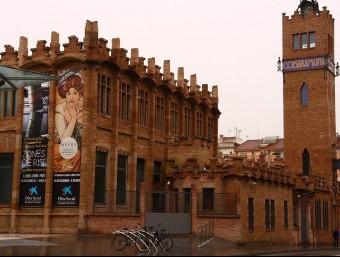 La fàbrica Casaramona, a Montjuïc de Barcelona, es va transformar en Caixafòrum el 2002.  Foto:ARXIU