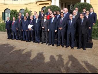 Assistents al Primer Fòrum Econòmic del Mediterrani Occidental, al Palau de Pedralbes de Barcelona aquest mes.  Foto:ARXIU /JUANMA RAMOS