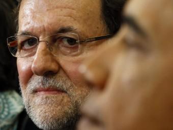 Rajoy va parlar de la independència catalana davant Obama.  Foto:ARXIU