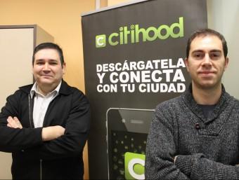 Rafa Fernández i Jordi Dachs, dos dels quatre emprenedors que han tirat endavant Citihood.  Foto:JORDI ALEMANY