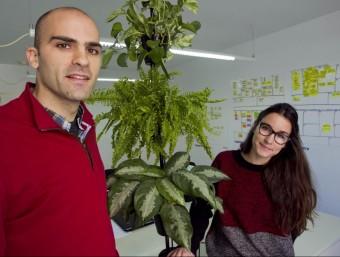 Xavier Rius, fundador, i Marta Rius, arquitecta i dissenyadora gràfica són el cor de Citysens.  Foto:JOSÉ CARLOS LEÓN