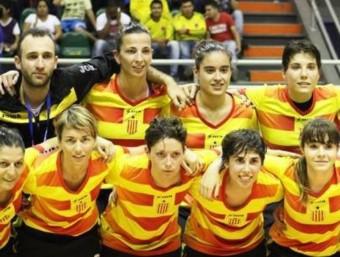 La selecció, en l'últim campionat del món de futbol sala, jugat a Colòmbia Foto:EL 9
