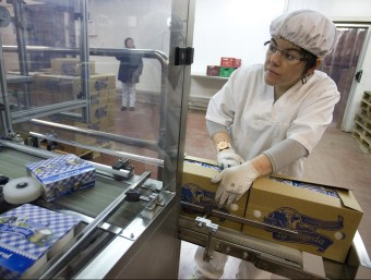 Imatge de la planta que té a Santa Pau La Fageda, una de les cooperatives més destacades de Catalunya.  Foto:ARXIU / LLUÍS SERRAT