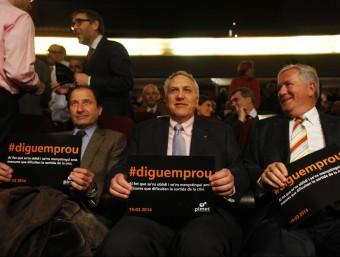 Pimec va reunir més de 1.400 empresaris de petites i mitjanes empreses al Palau de Congressos de Barcelona en un acte reivindicatiu.  Foto:ORIOL DURAN
