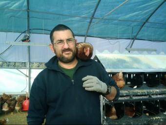 Albert Batalla comercialitza 2.200 ous diaris a Ous de Can Reinal.  Foto:L'ECONÒMIC