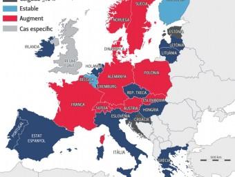Evolució del finançament públic a les universitats a Europa
