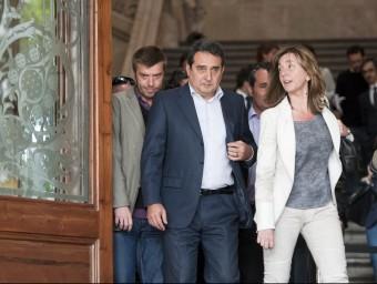 Montserrat Capdevila , acompanya l'exalcalde de Sabadell, Manuel Bustos, al TSJC, el 2013 Foto:JOSEP LOSADA
