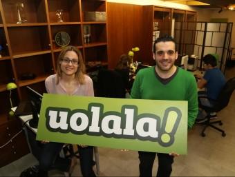 Els fundadors de Uolala, Marta Gimeno i Miquel Clariana.  Foto:ANDREU PUIG