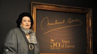 Montserrat Caballé , en un acte d'homenatge el 2012 Foto:AFP