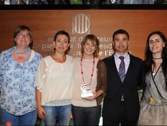 Ivan Tibau durant la presentació amb representants de l'esport femení Foto:J. ESTRUCH