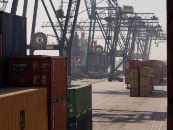 Contenidors del Port de Barcelona.  Foto:ARXIU /CRISTINA CALDERER