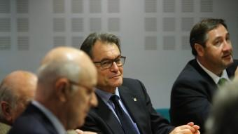 Josep Antoni Duran i Lleida i Artur Mas ahir, en l'executiva de CiU Foto:QUIM PUIG