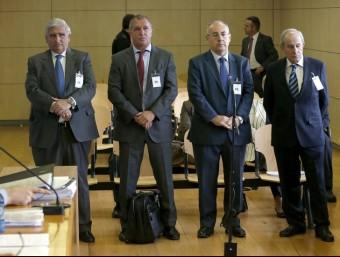 Els quatre exdirectius de Caixa Penedès que han estat jutjats a l'Audiència Nacional. Foto:ARXIU