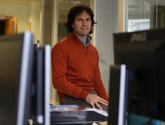 Nacho Huertos (a la foto) i David Ubide són els dos fundadors de Didactic Apps.  Foto:ANDREU PUIG