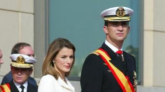 El prínceps d'Astúries, Felip i Letizia, en un acte a Barcelona Foto:LLUÍS CRUSET / ARXIU