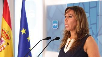 La líder del PP català, Alícia Sánchez-Camacho, aquest dijous després de la Junta Directiva Foto:ACN
