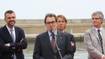 El president de la Generalitat, Artur Mas, ha inaugurat aquest dissabte la remodelació del Port de Colera Foto:ACN