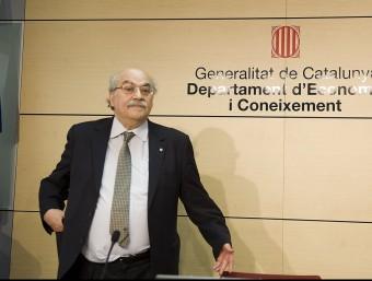 Mas-Colell ha presentat les balances fiscals Foto:ARXIU