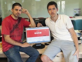 Els dos fundadors de Dareyoo, Eric Marcos i Josep Comas.  Foto:JOSEP LOSADA