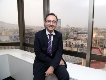 Carles Dalmau, a la seu central de Banc Sabadell a Barcelona.  Foto:ANDREU PUIG