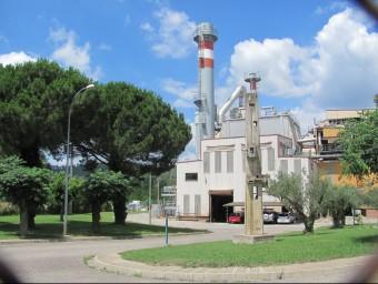 La planta d'incineració de Girona, a Campdorà Foto:D. VILÀ