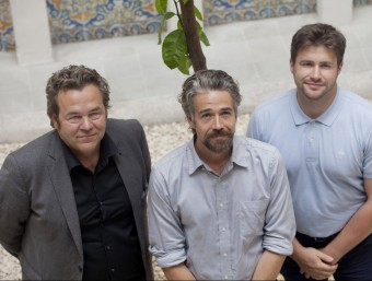 Christian Hiss, de Regionalwert AG; Guilhem Chéron, de La Rouche qui dit Oui! i Shane Gring, de Bould.  Foto:ARXIU
