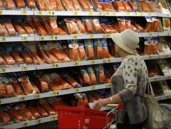 Un supermercat de Moscou amb productes importats de Bielorússia.  Foto:REUTERS