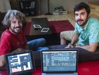 Julià Carboneras (esquerra) i Albert Minguell, que junt amb Oriol Rosell són els socis fundadors.  Foto:JOSEP LOSADA
