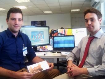 Ferran Blanché i Pau Sendra, fundadors de l'empresa a les oficines de València on impulsen Wayna.  Foto:ARXIU
