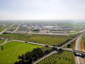 Vista aèria del LOGIS Empordà, Empordà Internacional i la Terminal Intermodal Empordà Foto:EL PUNT AVUI