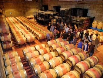 Visita al celler Mas Llunes de Garriguella, en una imatge del setembre de l'any passat. Foto:EL PUNT AVUI