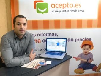Jorge Ródenas va fundar Acepto.es el 2009 juntament amb un altre soci.  Foto:JOSEP LOSADA