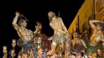 Una imatge actual del pas de la Flagel·lació Foto:CEDIDES PER LA CONGREGACIÓ DE LA SANG