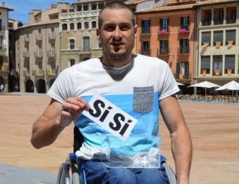 Roger Puigbò, a la Plaça Major de Vic Foto:PLATAFORMA PRO SELECCIONS CATALANES