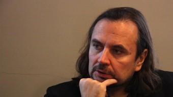El director Oskaras Korsunovas, ahir al matí en la presentació que es va fer al Palau Robert, de Barcelona. Foto:P. FRANCESCH/ACN
