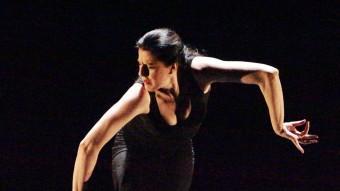 María Pagés , ahir al migdia en un assaig al Teatre Municipal de Girona. Foto:JOAN SABATER
