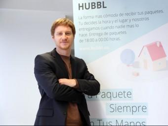 L'alemany Marius Kerbalek va idear Hubbl ara fa un any i tot just l'acaba de posar en marxa.  Foto:ELISABETH MAGRE